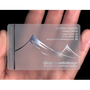Transparent Plastic Cards Printing