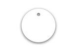 round plastic key tag