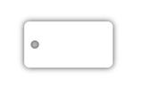 single plastic key tag