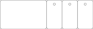 card with 3 key tags